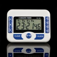 4-Channel Digital Kitchen Timer Electronic Cooking Countdown Clock 99hr59min