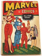 MARVEL MYSTERY #84 ( ALL HEROES ON COVER!, SCARCE! PLS SEE DESCR., TIMELY 1947 )