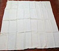 """Vintage Linen Lace Tablecloth 62"""" x 62"""""""