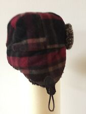2 Vintage Crown Red/Plaid Lumberjack Hat/Cap,Authentic Kangol Cap !!!