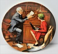 The Professor 1986 By Norman Rockwell Limited Edition Knowles Plate No 740-R NOS
