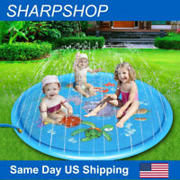 "68"" Inflatable Splash Spray Water Mat Kids Pad Outdoor Pool Beach Lawn Play Toy"