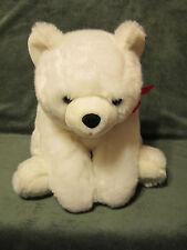 "White Floppy Laying BEAR Red Bow Super Soft RBI Plush Stuffed Animal 16"""