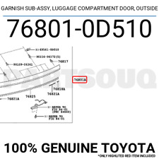 Genuine Toyota 62414-35010-B1 Center Pillar Garnish