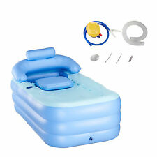 New Bath Tub Adult PVC Portable Spa Warm Bathtub Inflatable Blow Up US