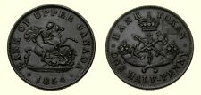 BANK OF UPPER CANADA 1854 ONE HALF PENNY TOKEN  4865