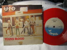 """UFO YOUNG BLOOD VINYL RECORD 45 SINGLE PIC COVER 7""""  RED VINYL"""