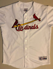 St. Louis Cardinals Retro Majestic Button Up Albert Pujols MLB Baseball Jersey