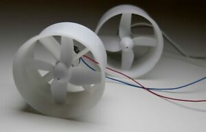 1x White EDF Fan Ultra Micro  Brushed Motor E.D.F Unit Indoor 3.7v RC Jet & FF