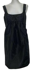 MIU MIU BLACK SILK BUBBLE DRESS, 44, $995