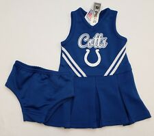 NWT Indianapolis Colts Girls Cheerleader Costume 2 pc Set Toddler Size: 4T