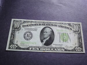 USA  1928 B $10 Fedral Reserve Note  New York, N Y   Free Shipping