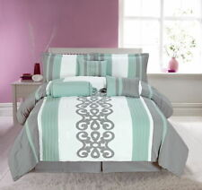 Embroidered Quilt Covers with Decorative Pillow