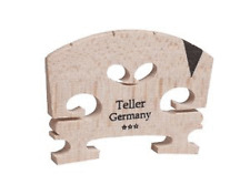 9142-34 Aubert Teller Semi Fitted 3/4 Violin Bridge w, Ebony V Shaped Insert