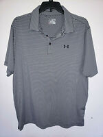Mens Under Armour Short Sleeve Striped Polo Shirt Size 2XL XXL Loose