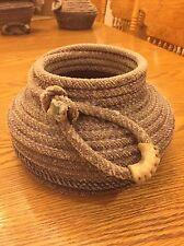 Rustic Western Lariat Bowl - Decorative Rope Bowl
