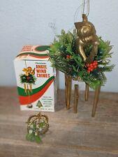Vintage Reliance Trading Christmas Angel Wind Chimes Hong Kong Original Box