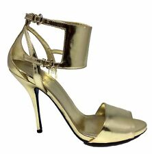 GUCCI GOLD ANKLE CUFF SANDALS, 8.5 B, $595
