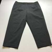 Talbots Woman Petites Gray Crop Stretch Pants Size 16WP A1603