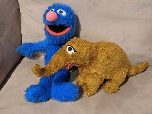 GUND Sesame Street SNUFFY Snuffleupagus & Grover Plush Toy Characters Lot