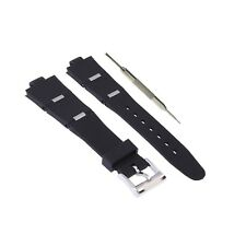 8x21mm Black Silicone Rubber Watch Strap Band Fits For Bvlgari Diagono W/ Tool