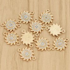 10pcs Gold Sunflower Pendant Jewelry Alloy Charms DIY Jewelry Making Accessories