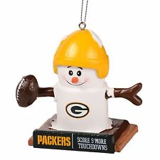 Green Bay Packers Smores Christmas Tree Ornament - We Want Smore Wins - Thematic