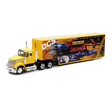 NEWRAY LONG HAUL TRUCKER INTERNATIONAL LONESTAR W MONSTER TRUCK CONTAINER 1/43