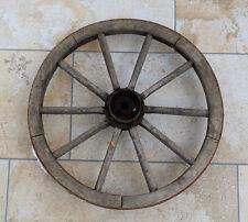 altes Wagenrad Speichenrad  Holzrad Eisenreifen Ø 49 cm