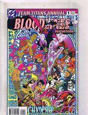 Lot of 5 Team Titans Dc Comic Books #Annual 1+9 12 13 14 Tw42