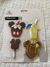 Disney Parks Exclusive Mickey Icon Food Snack Magnets Dole Whip Set of 4 NIP