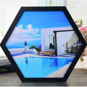 """Photo Frame Wall-mounted Picture Frame Polygon Various Size 6"""" 8"""" 10"""" 12"""" 14"""""""