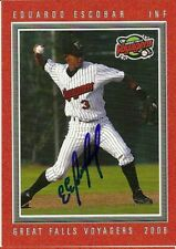 2008 Great Falls Voyagers EDUARDO ESCOBAR Signed Card autograph DBACKS TWINS