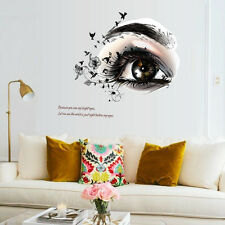 Beauty Women Big Eye Wall Quote Stickers Vinyl Decal Hair Salon Barbershop Decor