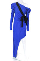 Hellessy Womens LouLou Asymmetrical Hem Dress Royal Blue Black Size 2
