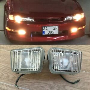 Repaired Nissan 97 S14 Oem Kouki Fog Lights For 200sx 240sx s14a JDM USDM EUDM