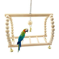1x Pet Parrot Toy Wooden Climbing Swing Ladder for Parrot Parakeet t