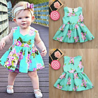 Toddler Baby Girls Infant Kids Sundress Clothes Sleeveless Princess Dress