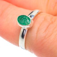 Zambian Emerald 925 Sterling Silver Ring Size 6.5 Ana Co Jewelry R60936F
