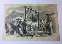 1877 magazine engraving ~ JAPANESE TORTURE OF THE CHRISTIANS