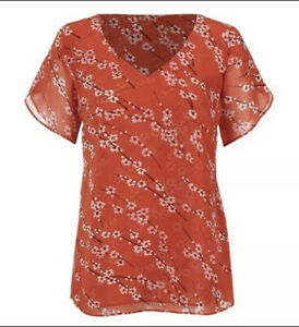 CAbi New NWT Split Sleeve Top Size S #5712 Was $82