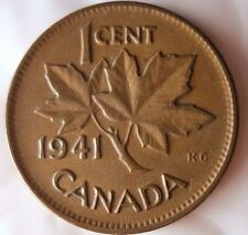 1941 CANADA CENT - Less Common Date - FREE SHIPPING - Big Canada Bin