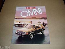 1979 Dodge Omni sales brochure dealer literature catalog