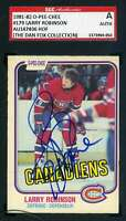 Larry Robinson 1981 82 OPC SGC Coa Autograph Authentic Hand Signed