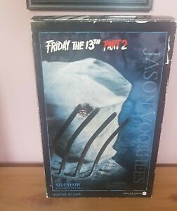 """Friday 13th Part 2 SIDESHOW JASON VOORHEES 12"""" figure - mint condition. RARE."""