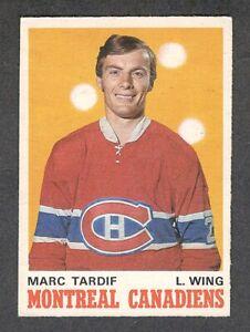 1970-71 MARC TARDIF #179 ROOKIE VG-EX OPC Montreal Canadiens Star Hockey Card RC