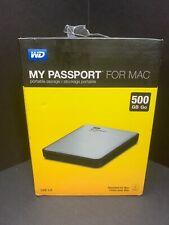 WD My Passport for Mac 500GB Portable External Hard Drive Storage USB 3.0 New