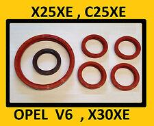 OPEL Wellendichtringe SATZ V6,  C25XE, X25XE, X30XE,  Calibra, Vectra ,Omega O64