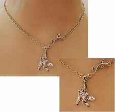 Silver Monkey Pendant Necklace Handmade NEW Accessories Fashion Leaves Fashion