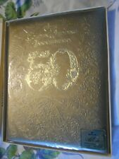 Hallmark 50th Golden Embossed Wedding Anniversary Scrapbook / Guest Album Party
